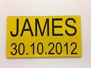 Personalised numberplate for little tikes car £4.99 delivered @ Amazon/customvinyldecals