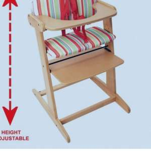 Red Kite Wooden adjustable highchair & free cushion £24.95 @ Online4baby