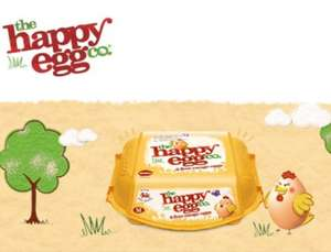 The Happy Egg Co. Free Range Large Eggs (6) ONLY 97p at Asda (Cashback from TCB 15p / Shopitize 35p making 47p after cashback)