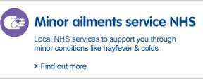 Free over the counter medicines from participating chemists (inc Boots).