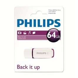 Philips USB 2.0 Flash Drive - Snow Series - 64GB for £14.99 @ 7dayShop