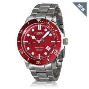 Christopher Ward C60 Trident Pro in Red 50% off £255 on Bracelet & £225 on Leather