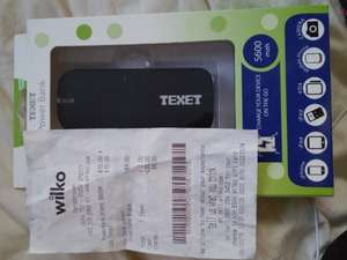 Texet power bank 5600 mah £11 it was £15 Wilko instore
