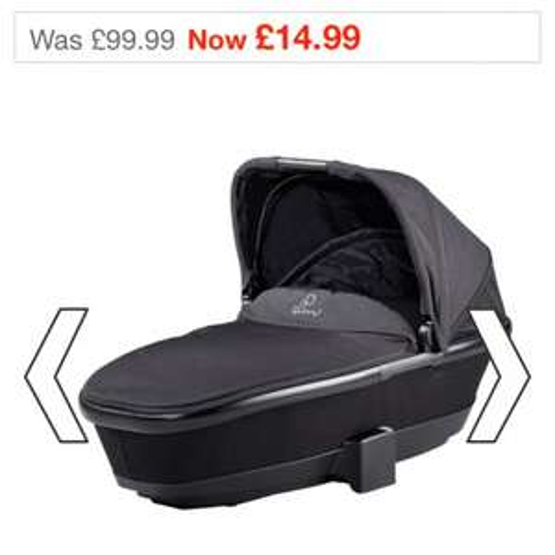 Quinny buzz carrycot black devotion £14.99 @ Smyths Toys