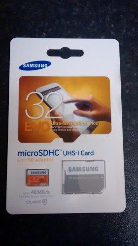Samsung evo 32gb microsdhc uhs-1 card £5.50 @ Tesco