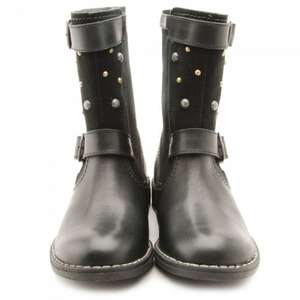 Rocker Black Leather Girls Zip-up Boots £24.00 plus £2.99  Delivery @ Start Rite