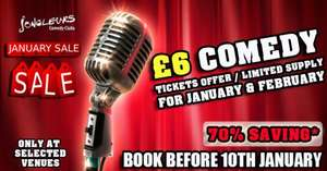 Jongleurs £6 Comedy Tickets // Save up to 70% in January & February // Book before January 10th // Leeds & Across the UK