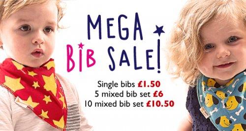 Funky Giraffe Mega Bib Sale (1 @ £1.50, 5 @ 6, 10 @ 10.50)