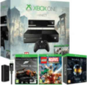 Xbox One with Kinect, Assassin's Creed: Unity, AC IV: Black Flag & Forza 5 Downloads, LEGO Marvel, Halo Collection & Charge Kit £399.99 @ Game