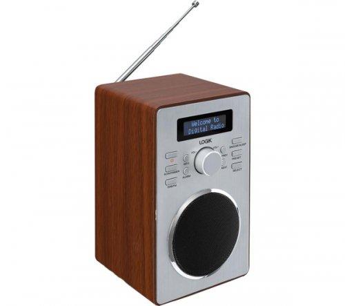 currys - LOGIK LBDAB14 DAB Clock Radio - Wood £19.99