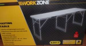 ALDI - WORKZONE - METAL PASTE TABLE - reduced to £12.99