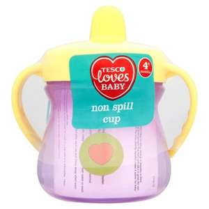 Tesco Loves Baby Non-Spill Twin-Handled Cup /Flip-top First Cup Now 69p Each @ Tesco
