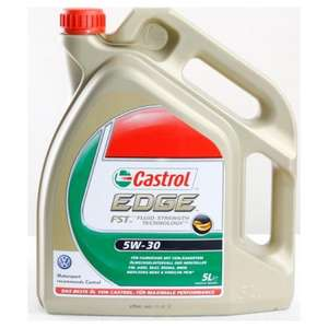 Castrol Edge FST 5W-30 Long Life OIl 5L @ mytyres.co.uk £31.70 (free delivery)