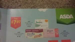 12 pack Huggies/Pampers/ Baby Johnsons Wipes (From 17th Jan) £7.97 @ Asda