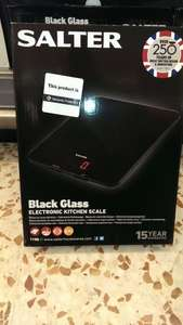 Salter Black Glass Electronic Kitchen Scale model 1150 £6.00 @ Morrisons