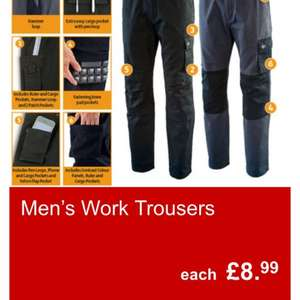 Aldi special buy men/women workwear Prices range from £2.99 - £69.99