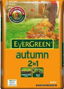 Lowest ever - Evergreen Autumn 360 sq m Lawn Food Bag £12 at Amazon