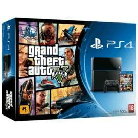 PS4 black + GTA V, Driveclub & The Last of Us Remastered download £349.99 GAME