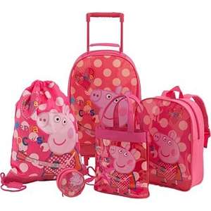 Peppa Pig 5 Piece Luggage Set - Multicoloured WAS £24.99 - NOW £10.99! @ Argos
