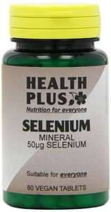 Health Plus Selenium 50µg Mineral Supplement - 2 X Packs Of 60 Tablets (120 Tablets) £2.14 @ Amazon add-on item