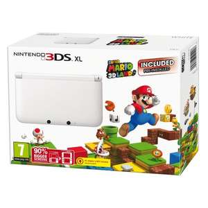 White Nintendo 3DS Xl with Super Mario 3D Land £119.99 (Using Code) @ Tesco