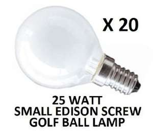 E14 Round Light Bulb Pearl Opal White 20x 25w £9.37 delivered at AMAZON / Dependable Trading LTD