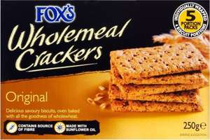 Fox's Wholemeal Crackers (250g) was £1.15 now 87p @ Waitrose