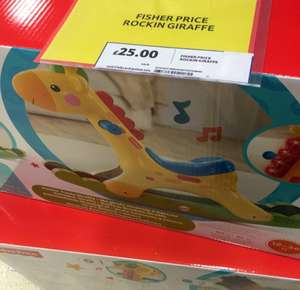 Fisher price rocking giraffe scanning £12.50 @ Tesco instore