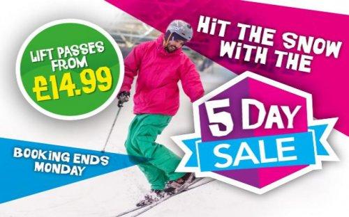 Ski pass from £14.99 @ chillfactore
