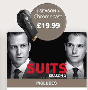 Google Chromecast & Suits Season 3 for £19.99 @ wuaki