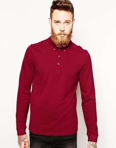 Long-sleeve Polo Shirt - £4.50 + delivery @ ASOS