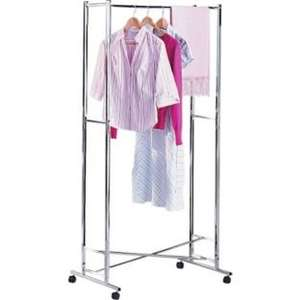 Folding Clothes Rail - Silver - CLEARANCE - WAS £24.99 - NOW £11.99! @ Argos