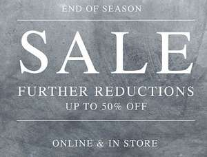 All Saints further reductions up to 50% off many items