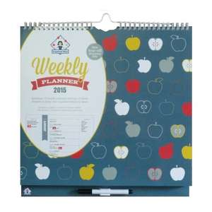 2015 Organised Mum weekly planner rrp £12 now £6 (free delivery £10 spend/prime) limited stock on @ Boxhouse Fulfilled by Amazon