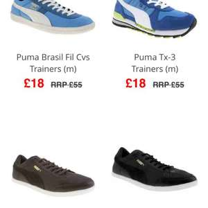 Puma brasil trainers £18 at branch 309 (part of schuh) free postage over £50 or £3.50 pays quidco (also low pro Catskil and tx-3 trainers)
