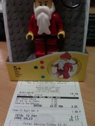 Lego Santa keylight / keyring £1.88 at Boots instore