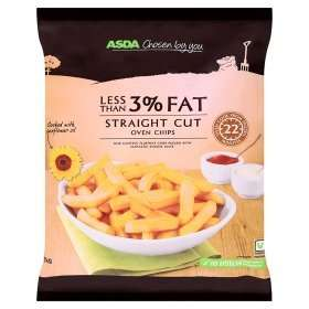 CHEAP AS... Well i'm not sure but Asda less than 3% Fat, 97% potato Oven Chips are now only £0.61p for 1Kg *suitable for vegetarians