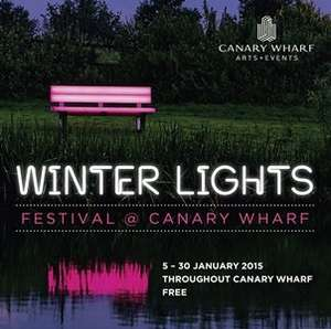 free night out - Canary Wharf lights up this January