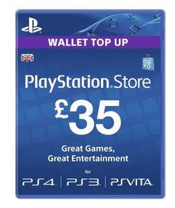Playstation Network Card £35 save £3 at Amazon, PSN card £32 only