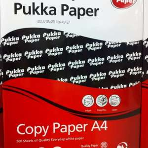 Pukka A4 copy paper was £8 now £1 at Tesco instore