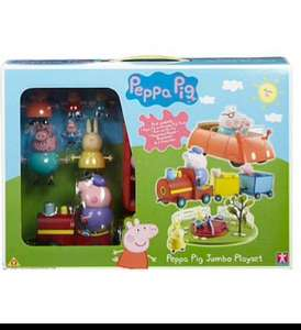 Peppa pig jumbo/on the go playset £15 Asda