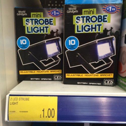 Small strobe light £1 @ B&M