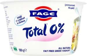 Fage Total 0% Fat Authentic Greek Yogurt (500g) was £2.39 now £1.50 @ Morrisons