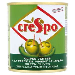 Crespo Green Olives Stuffed with Lemon or Jalpeno Pepper Stuffing (200g) in a Can ONLY 50p @ Morrisons