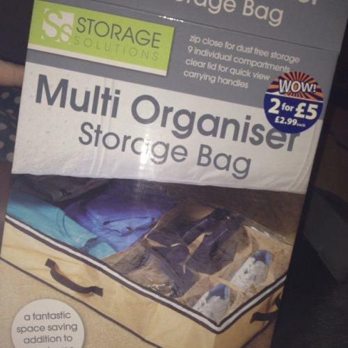 Zipup plastic clothes storage bags 10p @ B&M instore