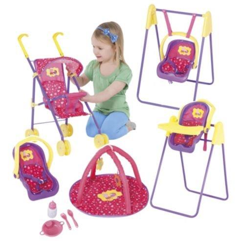 Peppa Pig doll set (buggy, car seat, swing, high chair, play mat etc) £10 @ Tesco