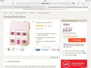*National*Instore Tesco carousel dolls house including furniture and figurines RTC £5