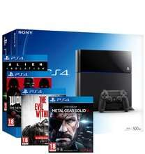 PS4 500 GB Black w/ Evil Within, Alien Isolation, MGS5:GZ and Wolfenstein £359.86 @ Shopto