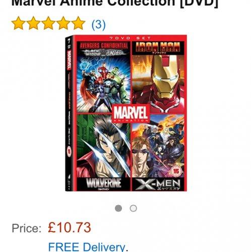 Marvel anime dvd boxset £10.73 @ Amazon