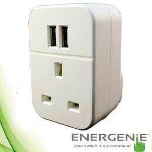 Energenie twin pass through usb charger £8.98 @ 7DayShop